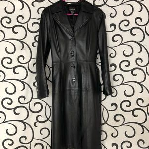 Bebe leather trench coat